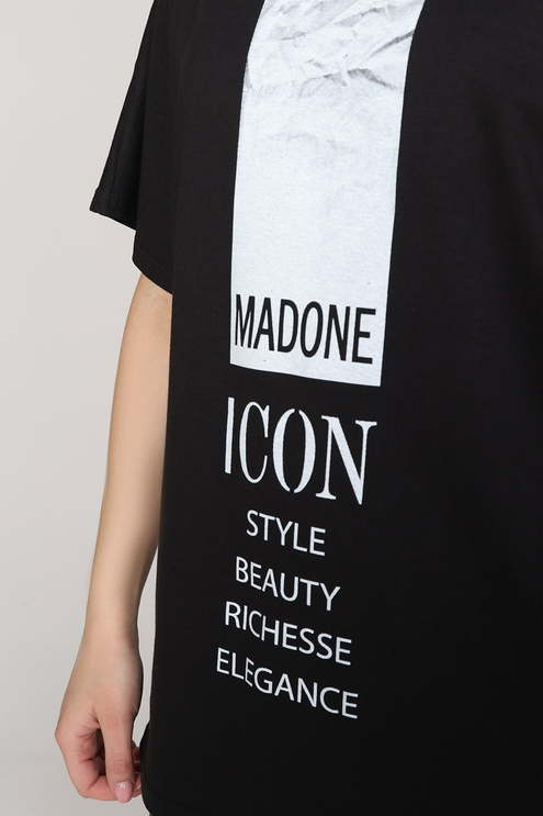 "Футболка ""Мадонна"", черный"